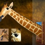 Giraffe Safari Mount Sculpture