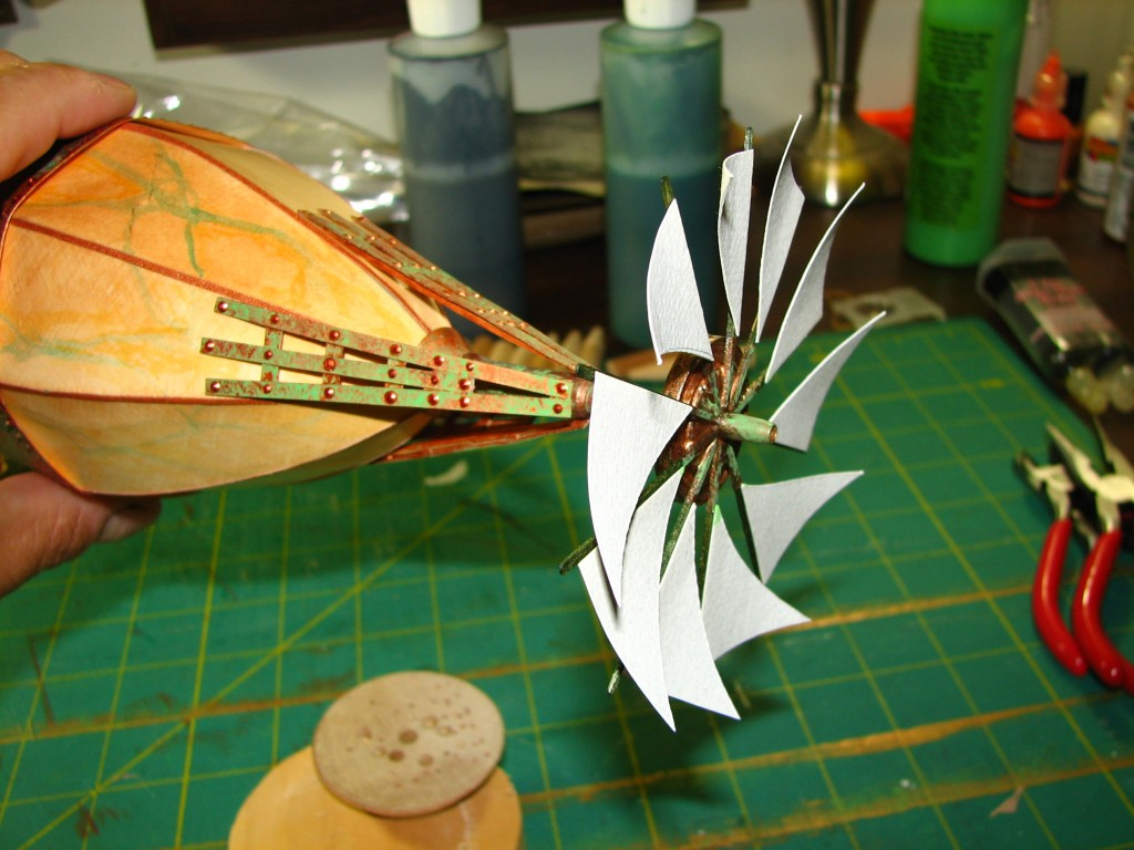 Propeller in place and spinnable!