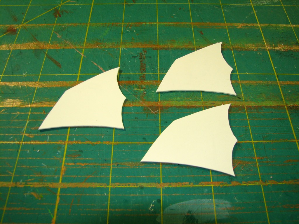 Index stock fins cut out