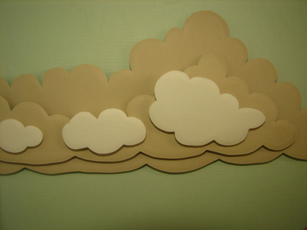 Paper clouds in 3D