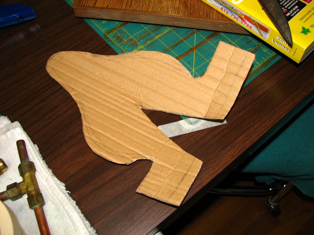 Cardboard ear cut out