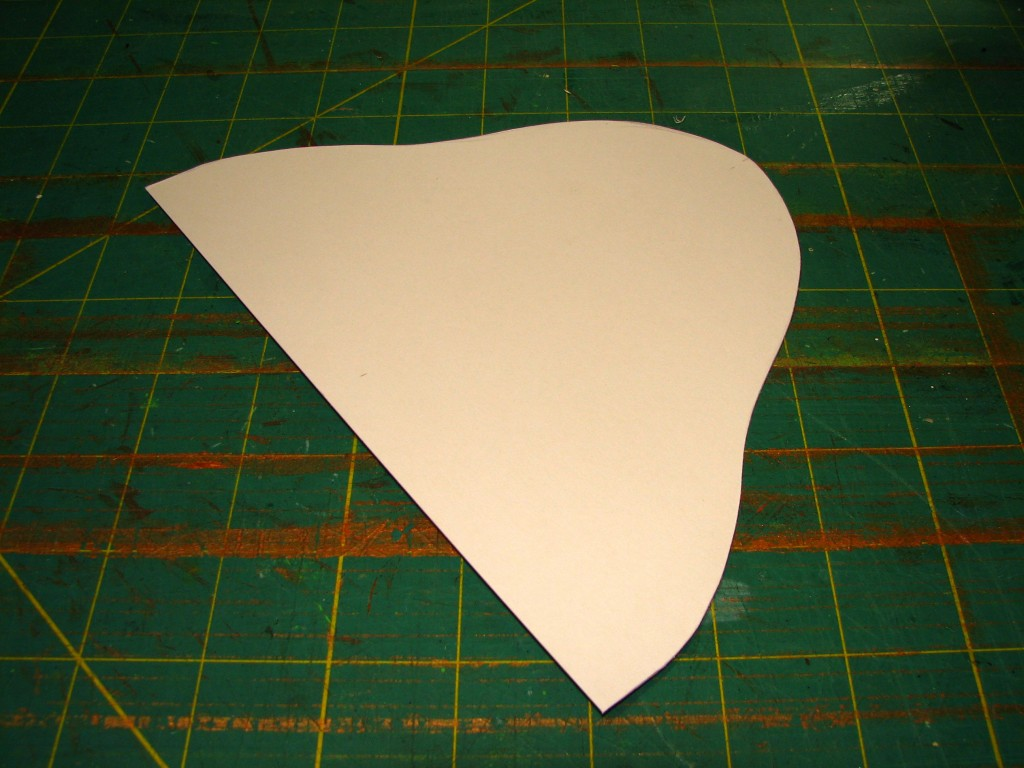Cardstock cut to ear shape