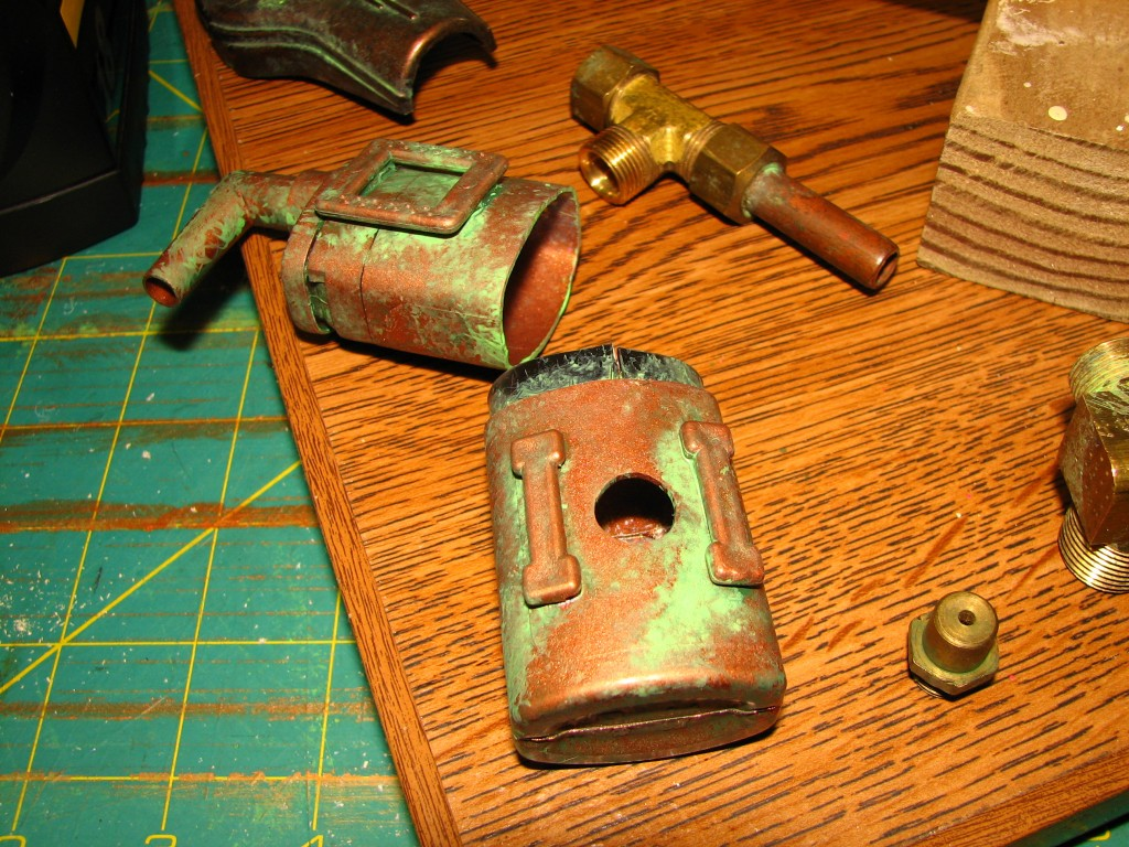 Battery compartment with patina added