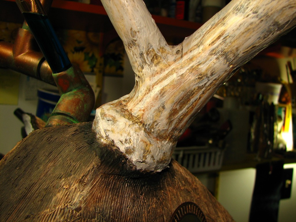 Natural antler detail
