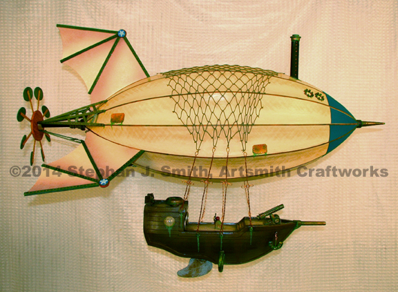 "Medium Victorian Steampunk ""Maki"" airship"