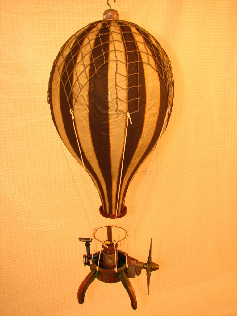 Steampunk sepia hot air balloon