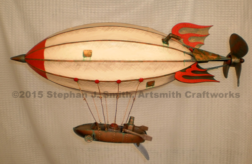 Photo of Hotrod steampunk airship sculpture